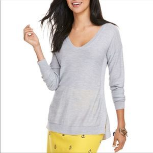 Vineyard Vines Cashmere Blend Sweater Gray Size S